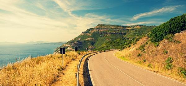 Alghero coastal road to Bosa