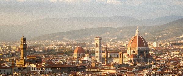 Florence city view with hills