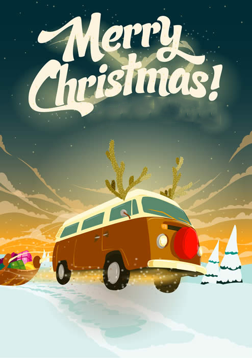 christmas campervan