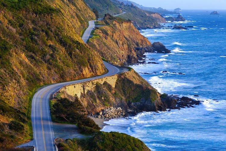 Rv drive on coastal road