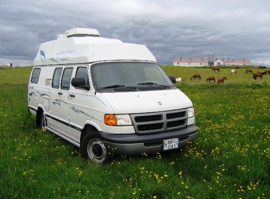 Campervan rental Iceland landscapes