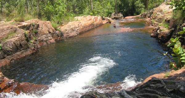 litchfield national park waterfall