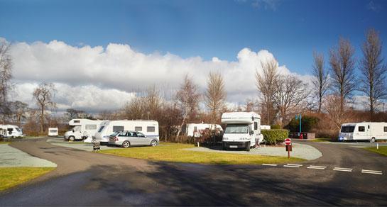 Edinburgh campervan rental camping site