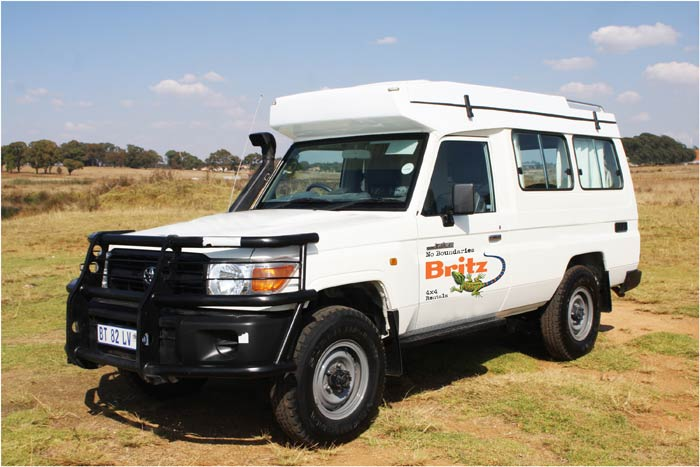 4wd camper drives in South Africa